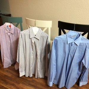 THREE Great Zegna Dress Shirts